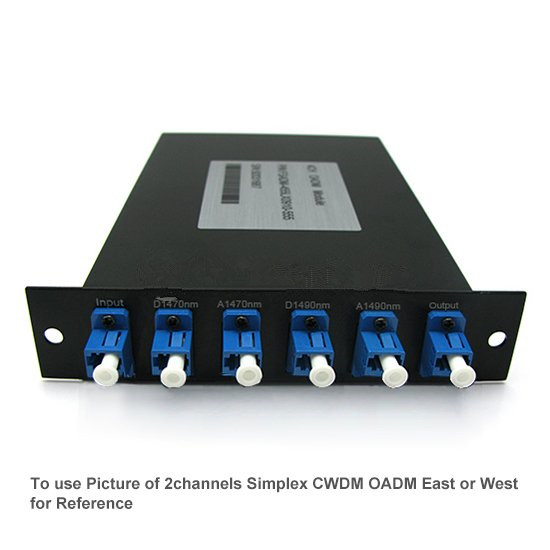 4 channels LGX Module Simplex CWDM OADM East or West