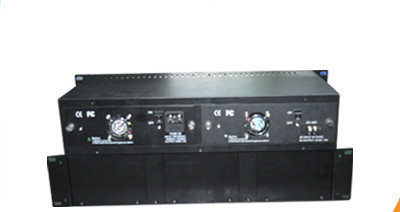 14 slots fiber media converter rack chassis with DC -48V dual power supply