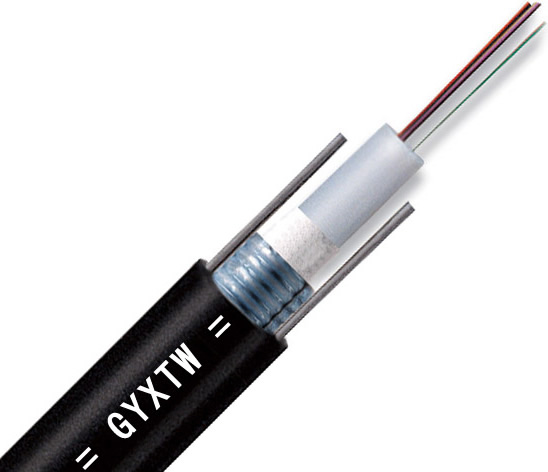 4 Fibers Single-mode Single Armor Single Jacket Central Loose Tube Waterproof Outdoor Fiber Optic Cable- GYXTW