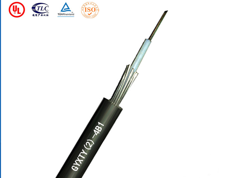 4 Fibers Single-mode Single Jacket Loose Tube Steel Wire Strength Member Outdoor Fiber Optic Cable -GYXTY