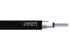 12 Fibers Single-mode Single Jacket Loose Tube FRP Strength Member Outdoor Fiber Optic Cable - GYFXTY