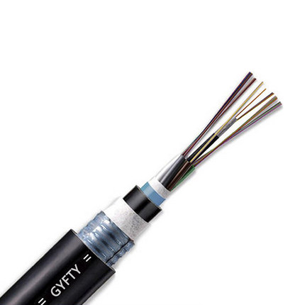 24 Fibers Single-mode Single Jacket Non-Metal Member Waterproof Dielectric Loose Tube Outdoor Fiber Optic Cable - GYFTY