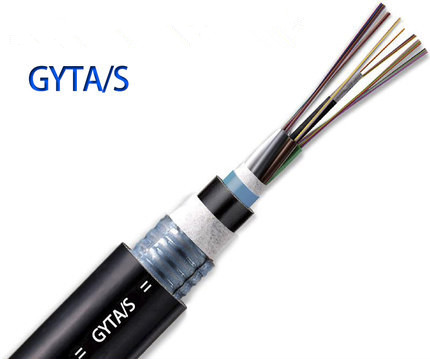 24 Fibers Single-mode Single Armor Single Jacket Stranded Loose Tube Steel Wire Strength Waterproof Outdoor Fiber Optic Cable - GYTA