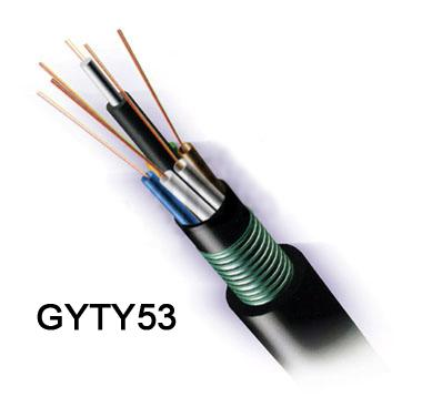 24 Fibers 62.5/125μm Multimode Double Armored Double Jackets Stranded Loose Tube Steel Wire Strength Waterproof Outdoor Fiber Optical Cable GYTA53
