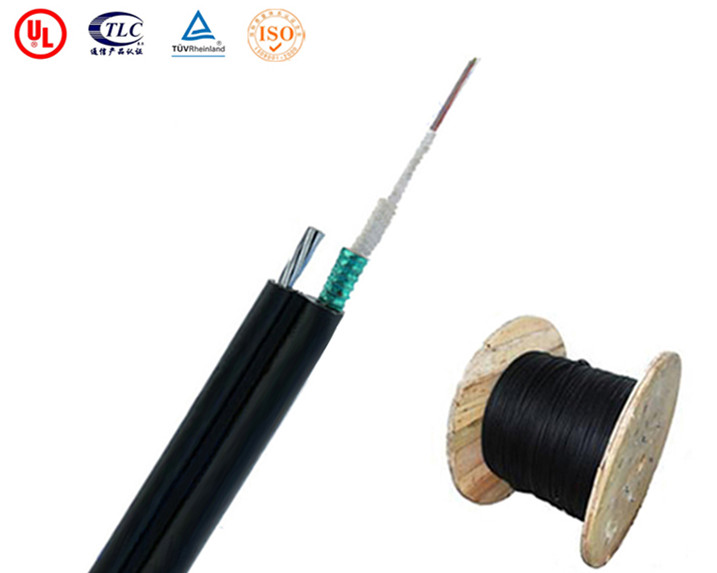 6 Fibers Single-mode Single Jacket Central Loose Tube Steel Wire Strength Figure 8 Self Supporting Outdoor Fiber Optic Cable - GYXTC8Y