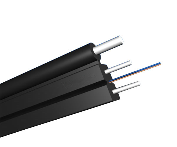2 Fibers Single-mode KFRP Strength member Messenger Wire  FTTH Drop Cable-GJXFH
