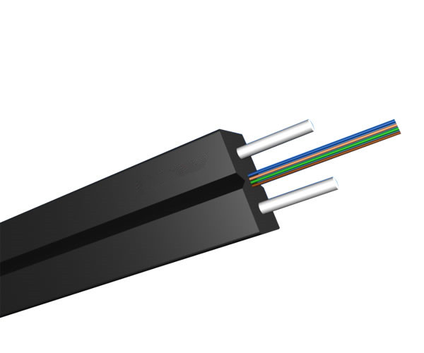 4 Fibers Single-mode FRP Strength member Messenger Wire  FTTH Drop Cable-GJXFH