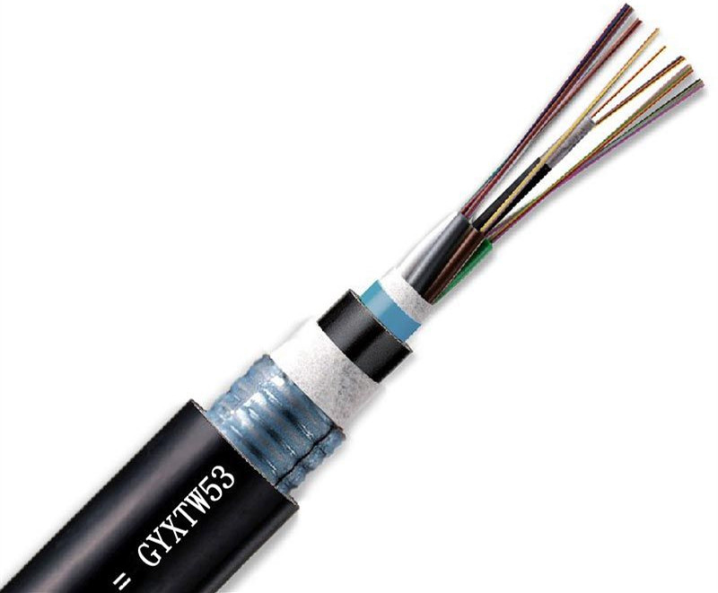 GYXTW53 Armored and Sheathed Double Central Loose tube Cable fiber optic cable