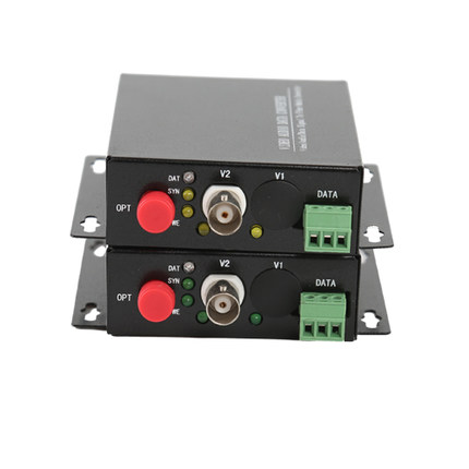 CCTV Video to Fiber 1-Channel RS485 Video Transmitter/Receiver fiber optic vedio converter